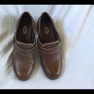 Dr. Scholls, 9, brown Demi-boot with zip, EUC